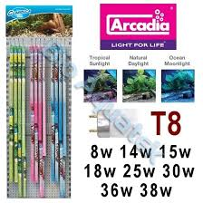 arcadia classica aquarium light tropical fish tank bulb t8