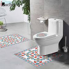 selbst klebe bad tapeten waschraum wc deckel aufkleber badewanne nicht slip boden vinyl pads zimmer wand decals pvc wasserdicht