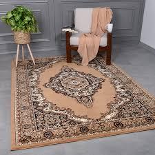 klassisch orient teppich dicht gewebt wohnzimmer braun beige vimoda homestyle