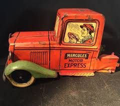 100 Vintage Truck Parts J Chein Tin Metal Litho Hercules Motor Express Toy