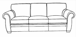 Cute Fancy Couch Drawing