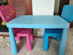 Set Of IKEA Kids Table N Chairs, Furniture, Tables & Chairs ... Ikea Mammut Kids Table And Chairs Mammut 2 Sells For 35 Origin Kritter Kids Table Chairs Fniture Tables Two High Quality Childrens Your Pixy Home 18 Diy Latt And Hacks Shelterness Set Of Sticker Designs Ikea Hackery Ikea