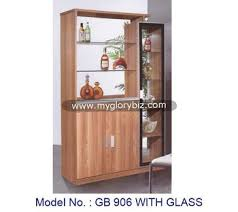 Simple Stylish Wooden Display Cabinet With Glass Living Room Furniture Showcase Modern
