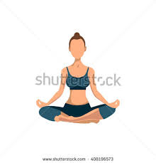 Vector Yoga Pose Poster Women Class Center