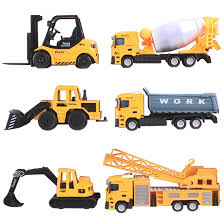 100 Construction Trucks DeAO Collectible DieCast Model 164 Small Scale Toys Collection With Realistic Look Pack Of 6
