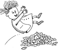 Jumping Into Leaves Clipart