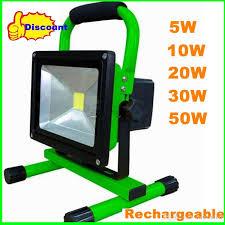 moq 20w cob led floodlight rechargeable charge flood light