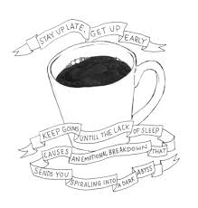 Drawing Art Sleep Cartoon Coffee Personal Draw Ink Sketch Pen Sketchbook Procrastination Caffeine Artists On Tumblr
