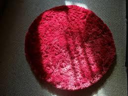hochflor teppich rund rot florhöhe 3cm benuta wohnzimmer schlafzimmer deko