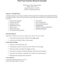 Fast Food Manager Resume Sample Skills Fair Assistant