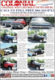 Colonial West Chevrolet Of Fitchburg | Commercial Truck Ad Chevrolet Silverado3500 For Sale Phillipston Massachusetts Price 2004 Silverado 3500 Dump Bed Truck Item H5303 Used Dump Trucks Ny And Chevy 1 Ton Truck For Sale Or Pick Up 1991 With Plow Spreader Auction Municibid New 2018 Regular Cab Landscape The Truth About Towing How Heavy Is Too Inspirational Gmc 2017 2006 4x4 66l Duramax Diesel Youtube Stake Bodydump Biscayne Auto Chassis N Trailer Magazine Colonial West Of Fitchburg Commercial Ad