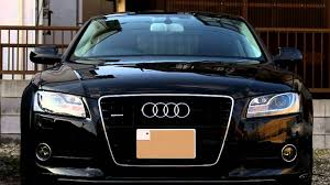 audi a5 sportback front turn signal comparison of led and halogen