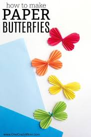 Easy Paper Butterfly Craft For Kids