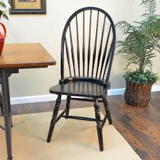 Black Wood Windsor Dining Chair