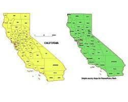 California County Vector Mapai Pdf Cdr Eps Wmf Pptx Jpg