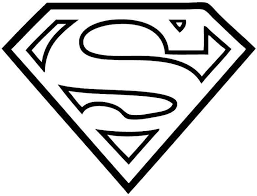 Superman Symbol Logo Coloring Pages Kids