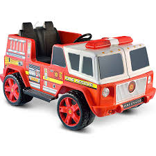100 Power Wheels Fire Truck Dept Rescue Battery Operated Bump And Go Toy