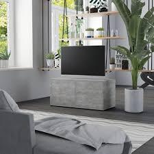 tv schrank betongrau 80x34x36 cm spanplatte tv schrank