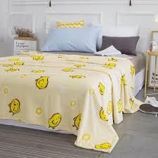 wliarleo gestrickten decke gelbe ente qute printed decken sofa bett decke weichen flanell frühjahr herbst decke 110x140 cm