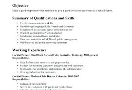 Soft Skills In Resume Waitress Examples Free Server Example Freelance Trainer
