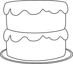 236x207 Birthday Cake Clipart in Black And White – 101 Clip Art