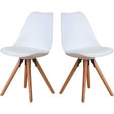 2er set esszimmerstuhl nelle küchenstuhl esszimmer küche stuhl stühle eiche weiß