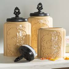 Wayfair Kitchen Canister Sets by Designer Kitchen Canister Sets Decor Et Moi