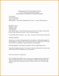 Business Letter Spacing On Letterhead Block Format Business Letter