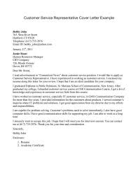 Cover Letter Samples For Customer Service Representative