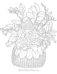 Full Image For Adult Coloring Pages Flowers Advanced Flower Page Special