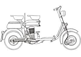 Click To See Printable Version Of Motor Scooter Lambretta 125E Coloring Page