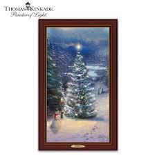 Thomas Kinkade Christmas Tree Cottage by Thomas Kinkade Lighted Canvas Prints