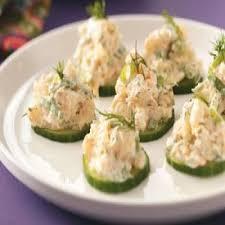 recette canape canapés de concombre aux crevettes recettes de cuisine française