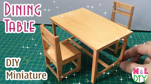 100 Printable Images Of Wooden Folding Chairs DIY Miniature Dining Table How To Make A Dining Table For Dollhouse