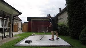 hockey snipes on dryland flooring tiles