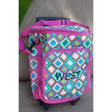 monogrammed rolling cooler personalized cute rolling cooler bag