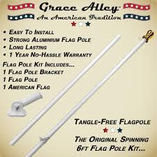 Flagpole Christmas Tree Plans by Amazon Com Flag Pole Kit Tangle Free Flag Pole Kit Includes Us