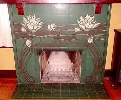 rookwood tile 1902 rookwood pottery tile fireplace surround