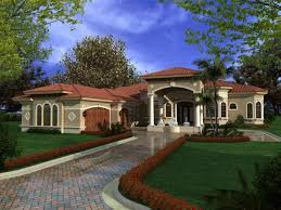Large One Story Homes by One Story Mediterranean Home Design So Replica Houses