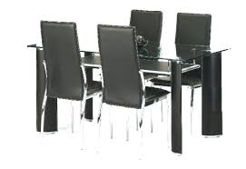 Sensational Black Dining Room Chairs Set Of 4 Four Grey White Table Dark And Chrome