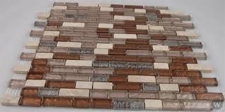 soho studio fusion glass tile mosaic brick saddle leather blend