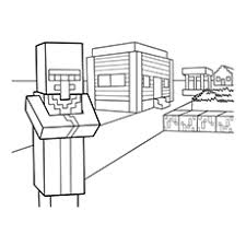 Minecraft Villager Coloring Pages