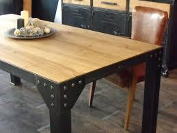 table bois industriel m tal meuble de style et acier sur