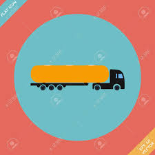 Icon Trucks With Tanks - Vector Illustration Flat Design Element ...