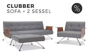 innovation clubber schlafsofa mit sessel im set sofawunder