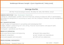 Sample Resume Bookkeeper Book Keeping Sop Example Cover Letter Samples
