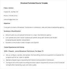 Libreoffice Writer Cv Template Radio Copy Resume Sample Broadcast Technician Now Cancellation Content
