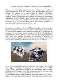 Daihatsu Hijet Mini Truck Parts Guarantee Unmatchable Quality