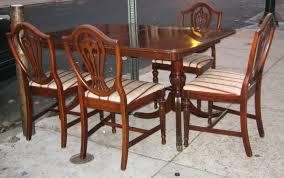 Uhuru Furniture & Collectibles: 1940s Mahogany Dining Set SOLD