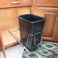 Under Cabinet Trash Can Pull Out by Install Cabinet Organizers
